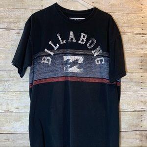 Billabong- black and red wave  short sleeve tee